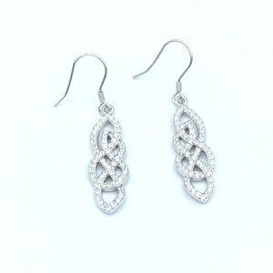 Jewelry - 🛍925 Sterling Silver CZ Dangling Earrings🛍